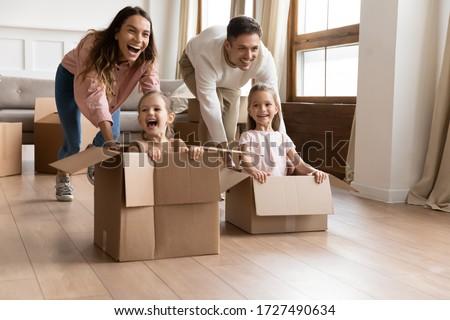 Couple unpacking belongings Stock photo © photography33