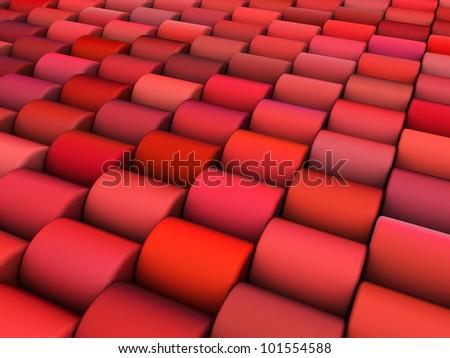 Abstrato 3d render múltiplo rosa vermelho cilindro Foto stock © Melvin07