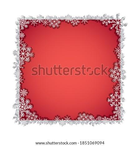 Empty foto frame on decorative wallpaper in red modern interior. Stock photo © Victoria_Andreas