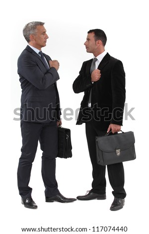 Businessmen trying to build up their morale before an important meeting Stock photo © photography33