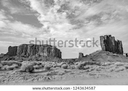 vale · ocidente · pôr · do · sol · Utah · céu · natureza - foto stock © meinzahn