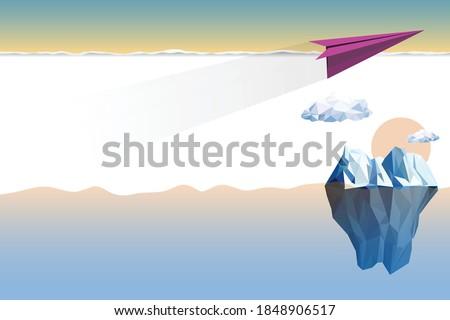 Avion espace texte air volée nuage Photo stock © Hermione