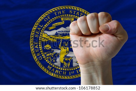 Complete Waved Flag Of American State Of Nebraska For Background Foto stock © vepar5