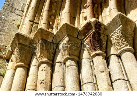 Buildings facade detail on the medieval town of Penafiel, Spain Stock photo © homydesign