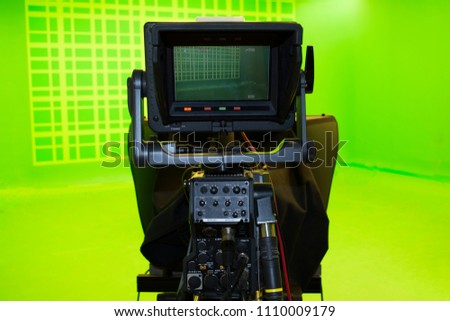 high definition camcorder set with view screen isolated on whit stock photo © simpson33