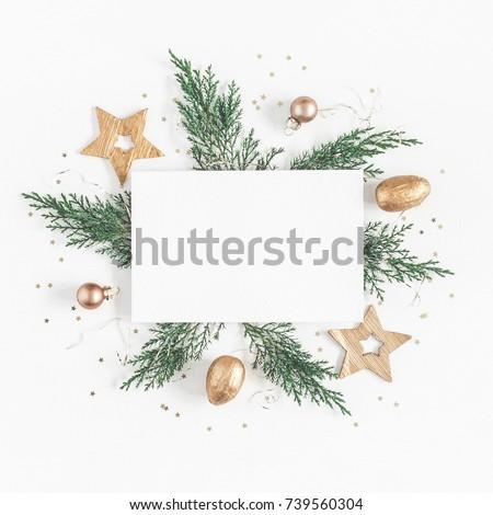 Noel · ağaç · arka · plan · altın · beyaz - stok fotoğraf © tetkoren