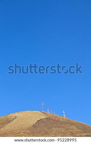 Radio telekomunikacja wieża górę starych wulkan Zdjęcia stock © meinzahn