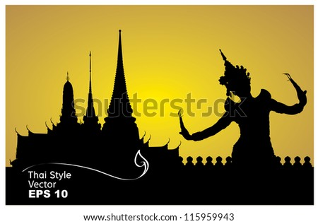 Thai  dance at sunset Stock photo © adrenalina