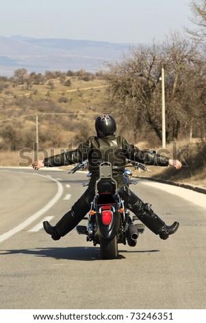 Motorfiets afbeelding ijzer paard sport achtergrond Stockfoto © leonido