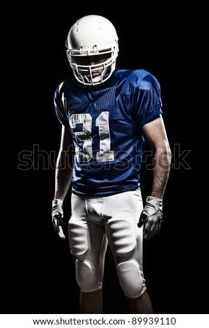 Futballista kék tart labda fehér sport Stock fotó © wavebreak_media