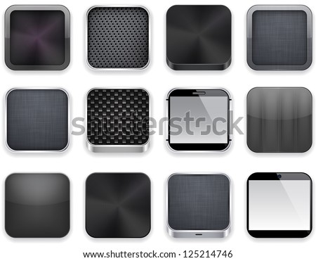 Multimedia web Internet cuadrados vector negro Foto stock © rizwanali3d
