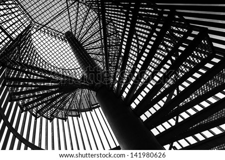 Urban Building Fire Escape Staircase, Abstract Geometric Composi Stock photo © stevanovicigor