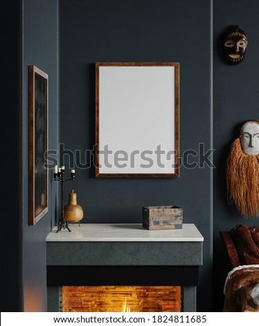 Fireplace close up background Stock photo © dariazu