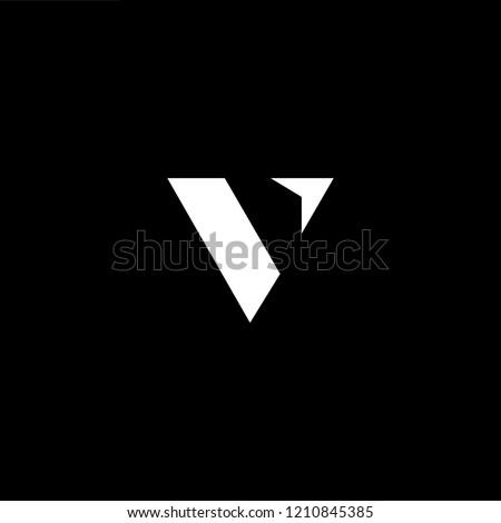 abstract vector logo letter v stock photo © netkov1