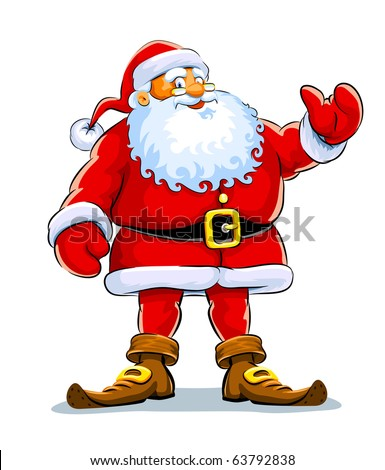 Smiling Santa Claus standing alone Stock photo © LoopAll