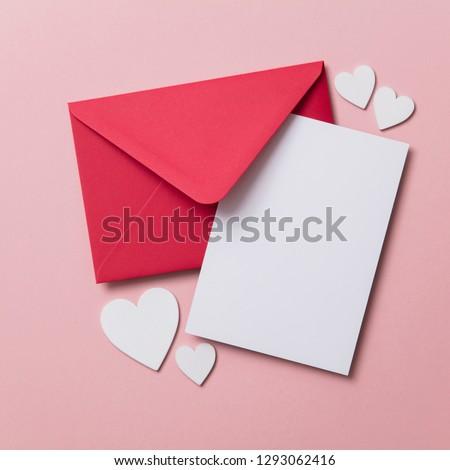 Anya kézzel készített papír levelek piros szív Stock fotó © tetkoren