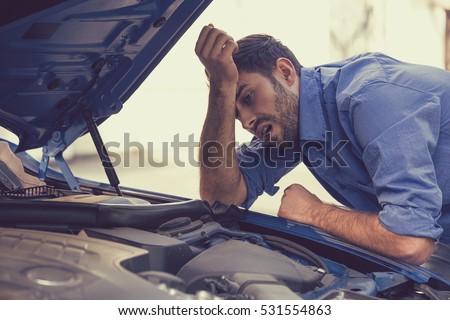 Zepsutego samochodu samochodu ruchu crash jazdy gruntów Zdjęcia stock © Paha_L