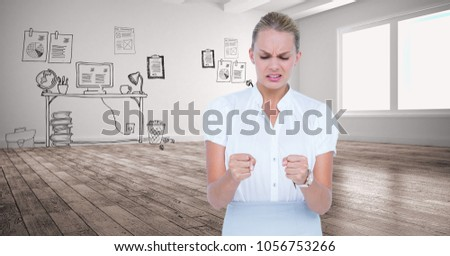 Composite image of furious businesswoman looking at the camera Stock photo © wavebreak_media