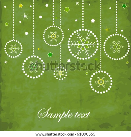 Stock fotó: Vintage Christmas Card With Ornate Elegant Retro Abstract Floral