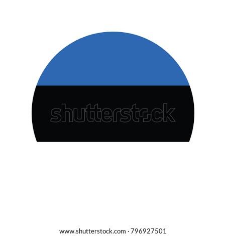 Flagge Estland korrigieren Element Farben Bildung Stock foto © tkacchuk