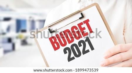 Budget word on plate Stock photo © fuzzbones0
