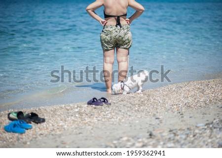 ビーチ · シャツ · 赤ちゃん · 楽しい · 少年 - ストックフォト © lubavnel