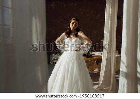 gyönyörű · boldog · mosolyog · menyasszony · fiatal · nő · esküvő - stock fotó © victoria_andreas