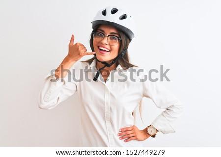 Genç dostça işkadını gözlük yalıtılmış Stok fotoğraf © gravityimaging