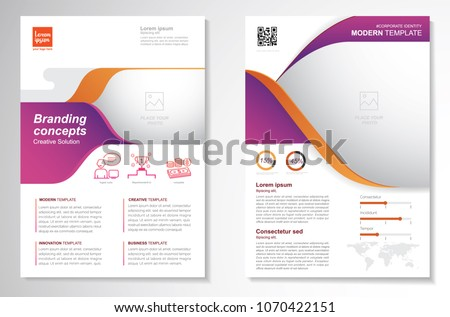 Brochure lay-out sjabloon flyer presentatie business Stockfoto © SArts