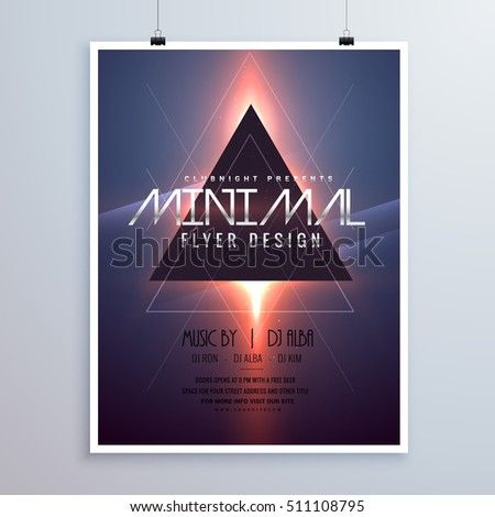 minimal space theme flyer template design with shiny light effec Stock photo © SArts