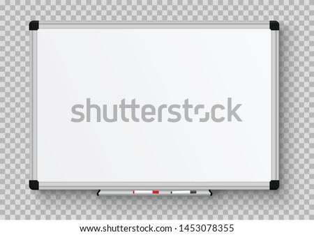 office blank whiteboard vector template isolated on white backgr stock photo © tuulijumala