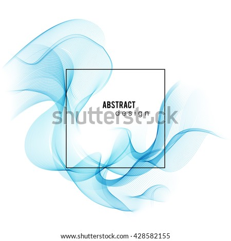 ayarlamak · mavi · şeffaf · duman · dalga · vektör - stok fotoğraf © fresh_5265954