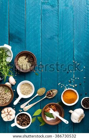 Alecrim alho sal branco pimenta culinária Foto stock © yelenayemchuk
