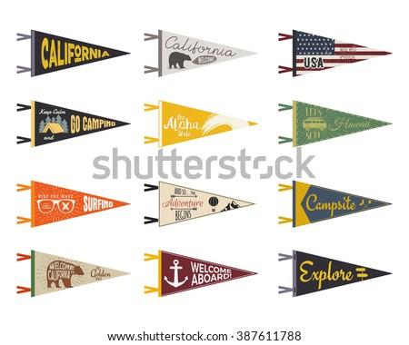Stock fotó: Kaland · USA · felfedez · zászlók · terv · klasszikus