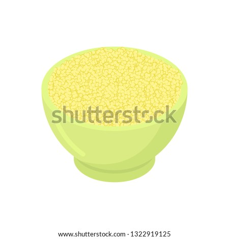 Puchar kuskus odizolowany zdrowa żywność śniadanie żywności Zdjęcia stock © MaryValery
