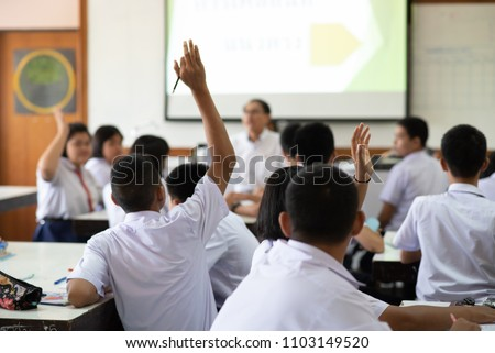 Professor escola secundária ciência classe homem Foto stock © monkey_business