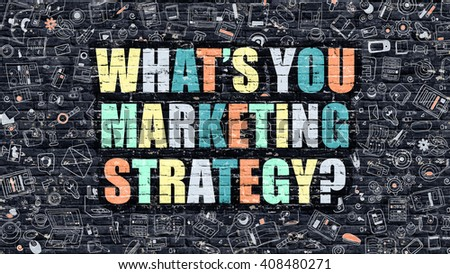 Multicolor Whats You Marketing Strategy on Dark Brickwall. Doo Stock photo © tashatuvango