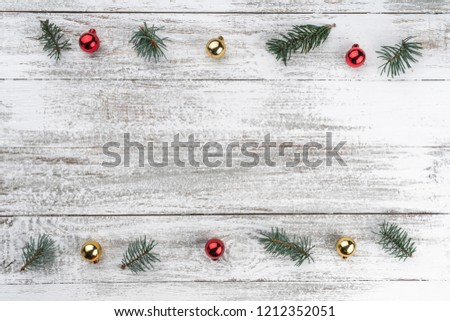 Christmas holidays composition on white wooden background; Chris Stock photo © Konstanttin