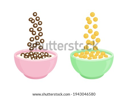 Barley cereal in plate isolated. Healthy food for breakfast. Vec Stock photo © MaryValery