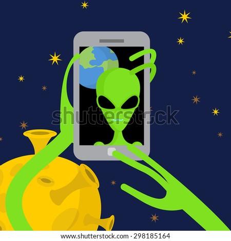 Exóticas espacio fotos teléfono fondo planeta tierra Foto stock © popaukropa