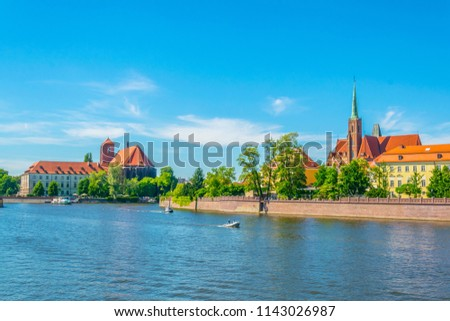 Wroclaw Cathedral, Collegiate Church and Church of Our Lady on t Stock photo © benkrut