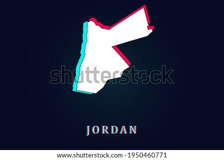 mapa · Jordânia · político · vários · abstrato · mundo - foto stock © kyryloff