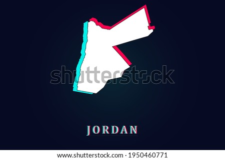 Jordan blau Karte isoliert weiß Stadt Stock foto © kyryloff