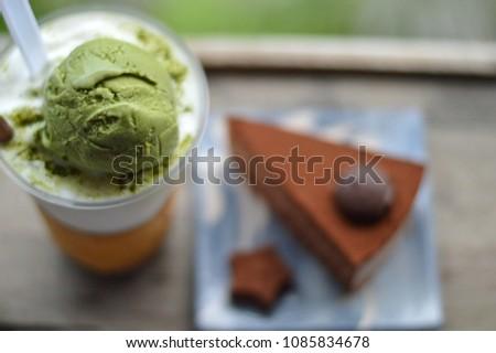кофе шербет кофе кусок шоколадом мрамор Сток-фото © artjazz