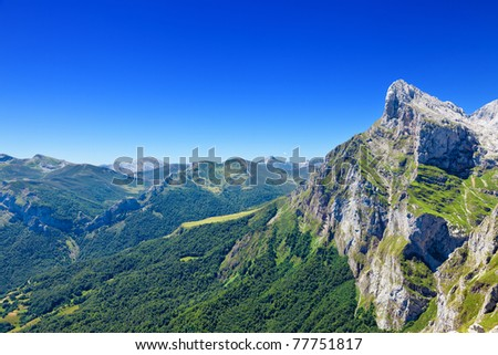 Fuente De mountains in Cantabria Spain Stock photo © lunamarina