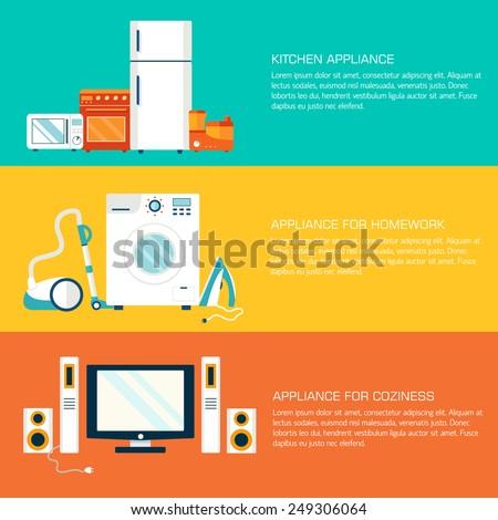 Modern otthon elektronika készülékek ikonok sablon Stock fotó © Linetale