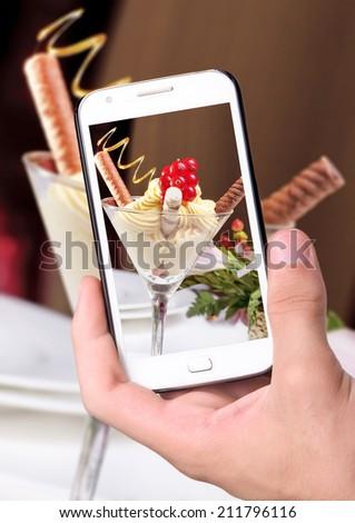 Stockfoto: Macro · foto · heerlijk · Rood · bes · ijs