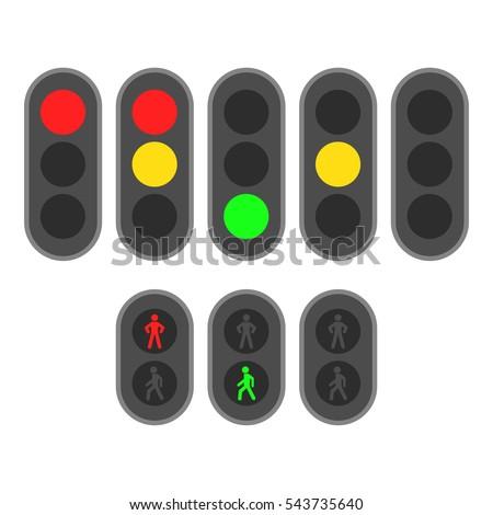 szett · közlekedési · lámpa · piros · jel · citromsárga · zöld - stock fotó © kyryloff