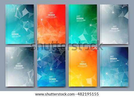 Modern Abstract Cover Poster Set Vector. Tech Futuristic Banner. Acrylic Texture. Digital Compositio Stock photo © pikepicture