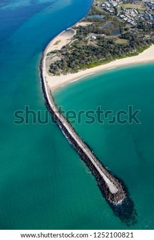 Csatorna kovács tengerpart tó légifelvétel dél Stock fotó © jeayesy